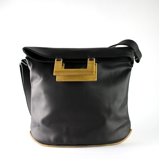 Tasche groß L schwarz mit Holz Tulpenholz Holzboden Holzgriffen Unikat Hydrogen 0027_1