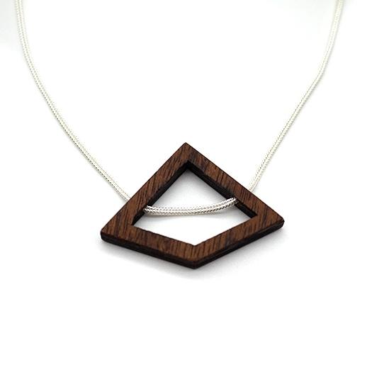Kette Deltoid Holz Mahagoni 925 Silber Fuchsschwanzkette Lithium 005_1