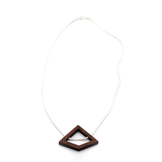 Kette Deltoid Holz Mahagoni 925 Silber Fuchsschwanzkette Lithium 005_2