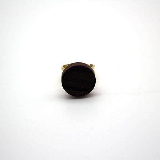 Holzring verstellbar Ring Unikat LITHIUM Rund Makassar 1_2