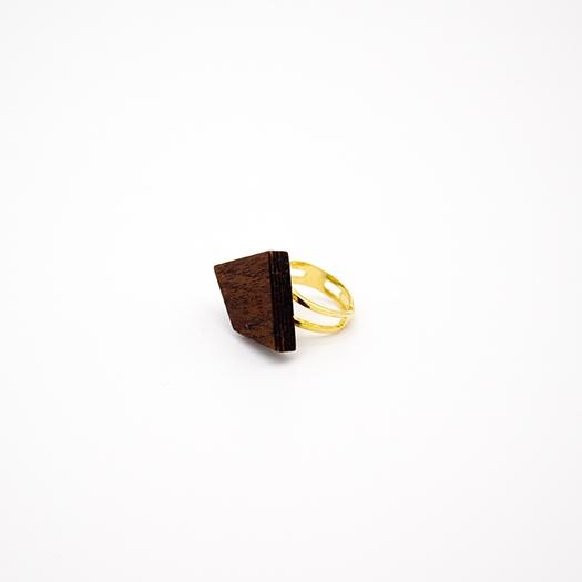 Holzring verstellbar Ring Unikat LITHIUM Deltoid Mahagoni 1_1