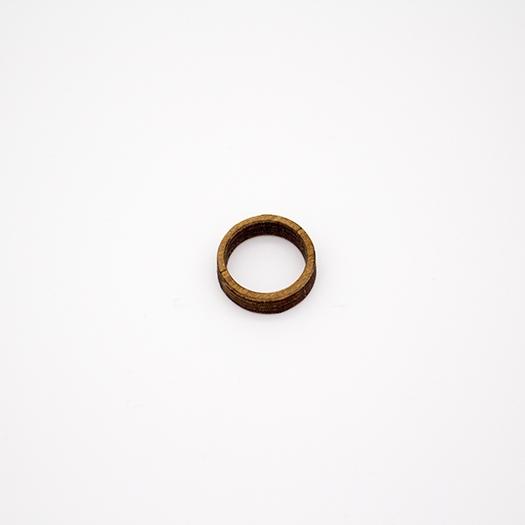 Holzring 16er Ring Unikat Unisex HELIUM Nussbaum 1_2