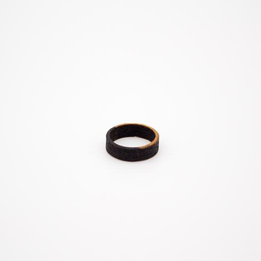 Holzring 18er Ring Unikat Unisex HELIUM Ebenholz 4_2