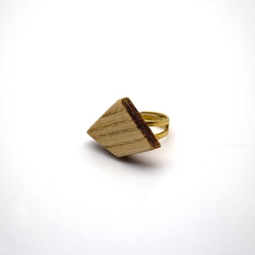 Holzring verstellbar Ring Unikat LITHIUM Deltoid Esche 2_1