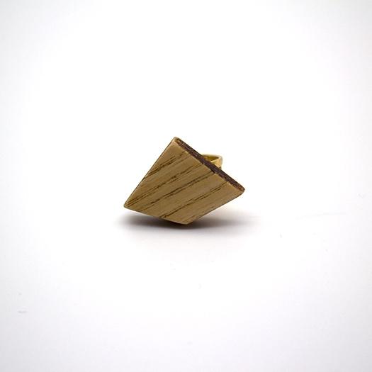 Holzring verstellbar Ring Unikat LITHIUM Deltoid Esche 2_2