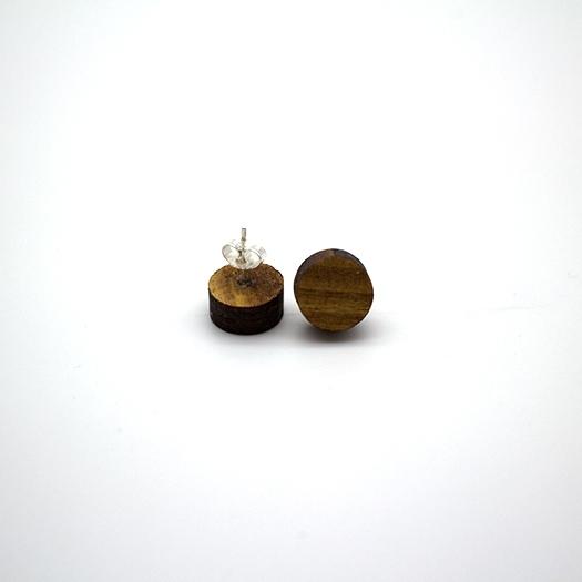 Ohrstecker Lithium Rund klein silber Afromosia 004/010_1