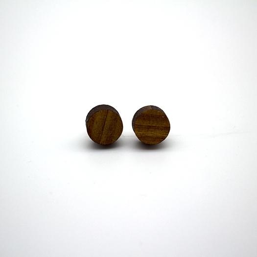 Ohrstecker Lithium Rund klein silber Afromosia 004/010_2