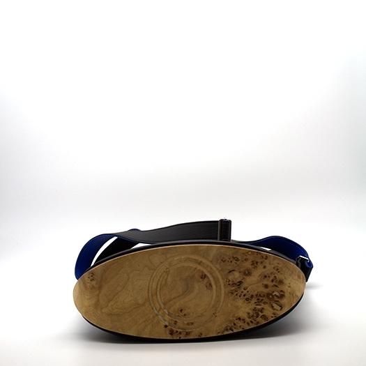 Tasche mittel M schwarz/blau/rot/gelb Bauhaus Edition mit Holz Pappel Holzboden Holzgriffen Unikat Hydrogen 0065_4 Boden