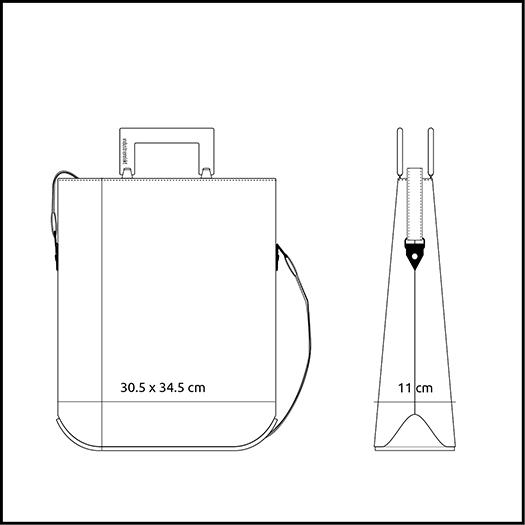 Tasche klein S Produktgroesse
