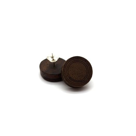 Ohrstecker Helium rund silber Nussbaum 012_1