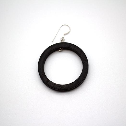 Ohrhaenger Lithium Kreis silber Mooreiche 005_3