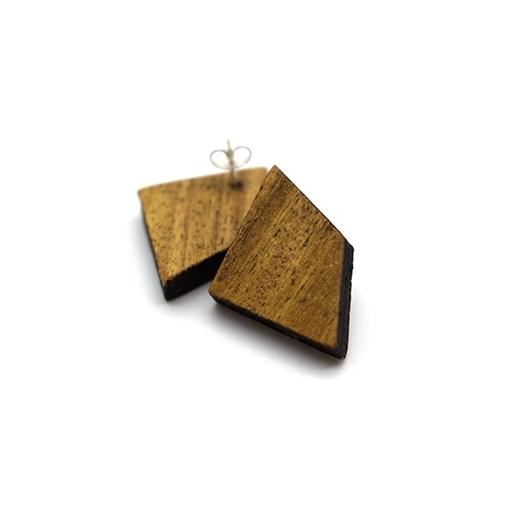 Ohrstecker Lithium Deltoid silber Mahagoni 004_1