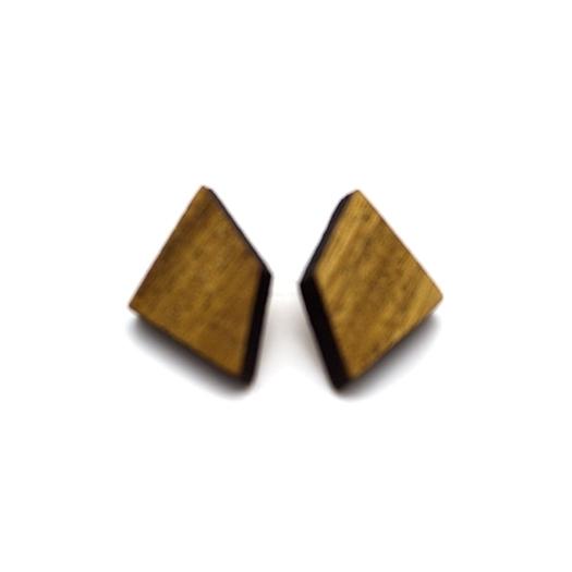 Ohrstecker Lithium Deltoid silber Mahagoni 004_2