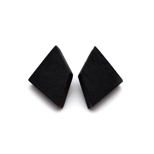 Ohrstecker Lithium Deltoid silber Tulpenholz schwarz 006_2
