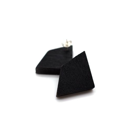 Ohrstecker Lithium Deltoid silber Tulpenholz schwarz 006_1
