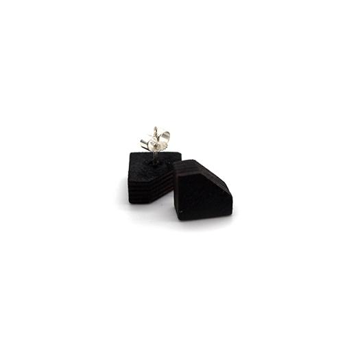 Ohrstecker Lithium Diamant silber Tulpenholz schwarz 007_1