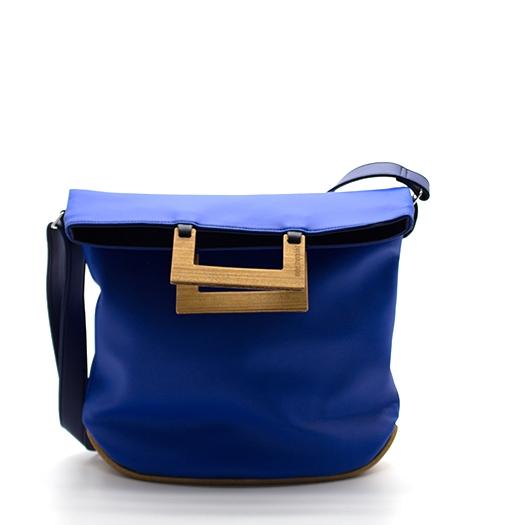Tasche mittel M blau blaubeere schwarz mit Holz Afromosia Holzboden Holzgriffen Recycling Unikat Hydrogen 0052_1